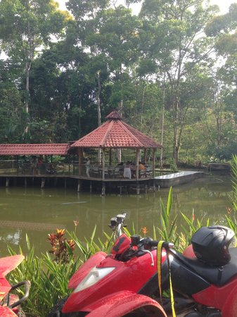 ATV Adventure Tours Costa Rica: the private restaurant on the tilapia pond- amazing fresh food