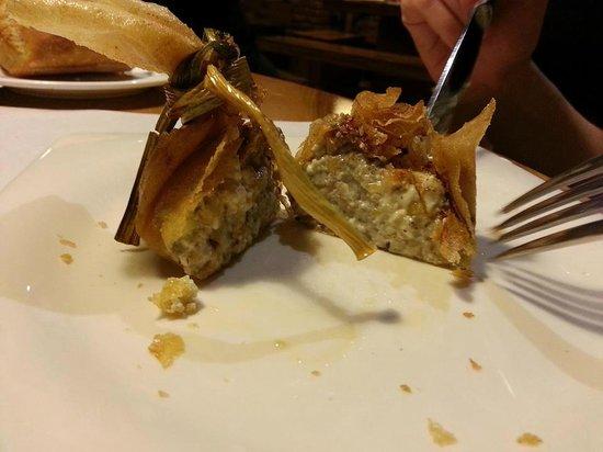 Restaurante El Molín de la Pedrera: Saquito de cabrales