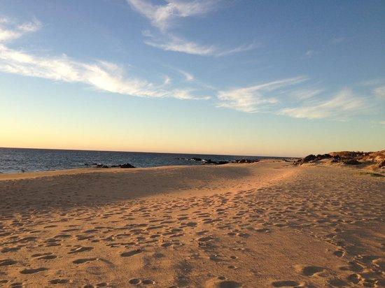 Villa del Faro: Private Beach at Sunrise