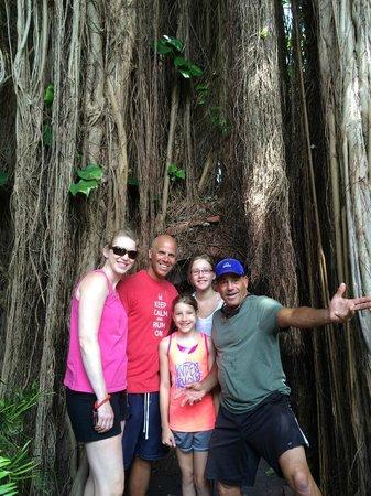 Lloyd's Tropical Bike Tour: My family with Lloyd