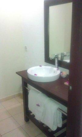 Turtle Beach by Rex Resorts: Vanity sink in bathroom