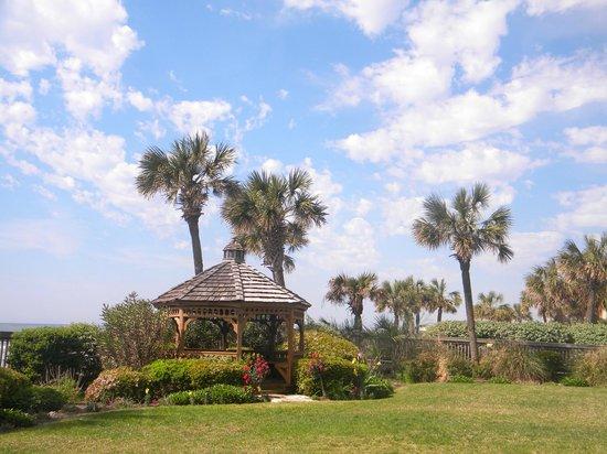 Arcadian I : Beautiful lawn overlooking beach