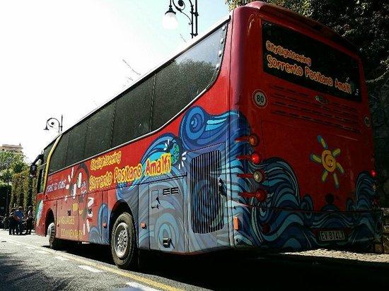 Sorrento Hiking: Red Bus Sightseeing Tour to Positano and Almafi