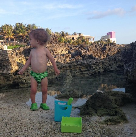 "Playa La Media Luna Hotel: Enjoying the ocean ""pool"" out front of the hotel"