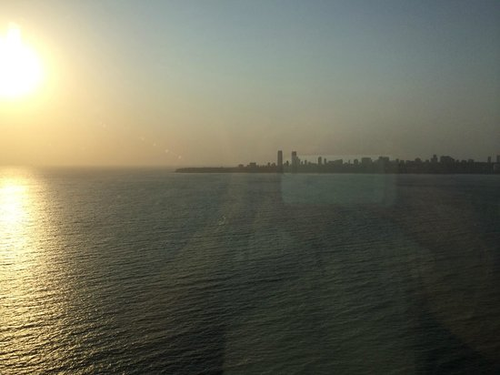 Trident, Nariman Point: The ocean view at sunset