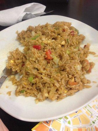 Noodles and Go: Chicken fried rice half devoured!