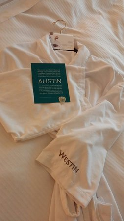 The Westin Austin at The Domain: Vday 2014 nice robe but didnt wear it