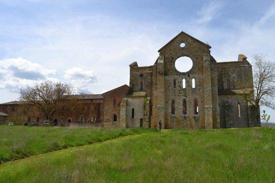 Abbazia di San Galgano: Visione esterna da dietro