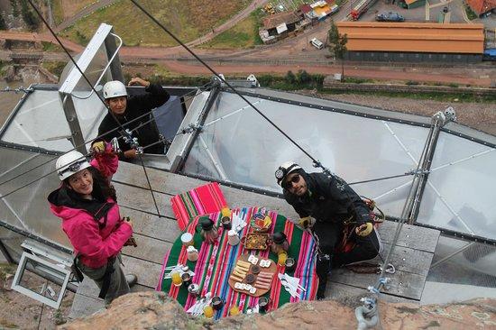 Natura Vive: Gran desayuno a 400mts de altura!