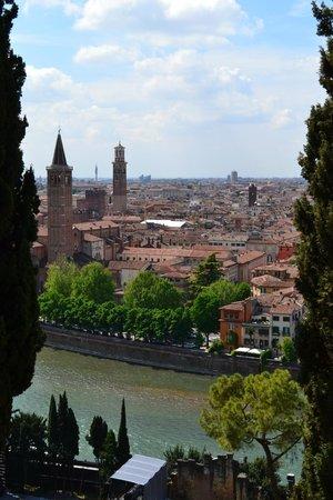 Piazzale Castel San Pietro: half way view