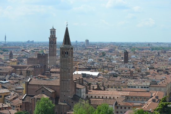 Piazzale Castel San Pietro: view from top