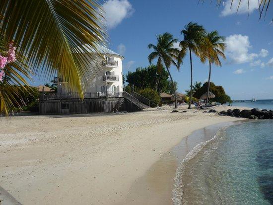 Club Med Les Boucaniers : la tour avec sa plage
