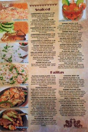 El Tapatio: Seafood & fajitas
