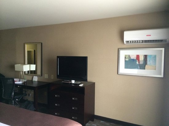 Holiday Inn Ontario Airport: TV and air conditioner