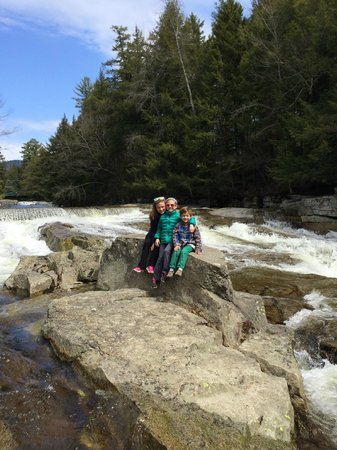 Picture from the falls near the Inn at Jackson NH