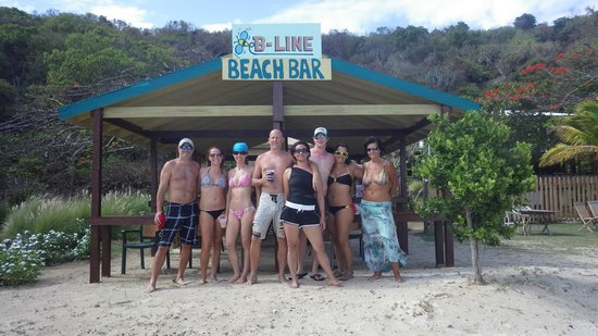 Good Day Charters : Hanging out at the B-Line, Little Jost Van Dyke, BVI