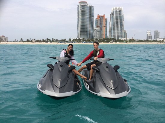 Miami Jet Ski South Beach My Family Finally Made It Out With Us