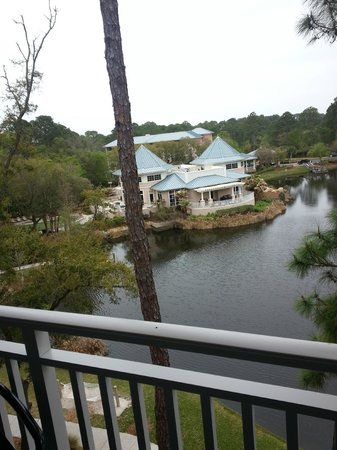 Marriott's SurfWatch : This is a look from a Garden view Villa balcony