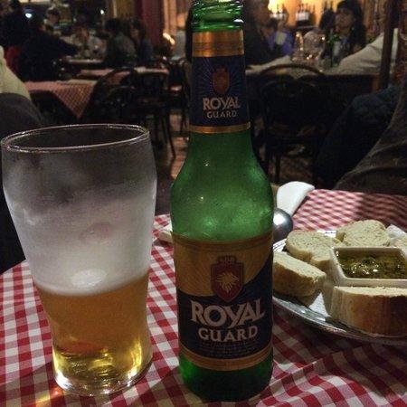Cerveja local no Il Siciliano