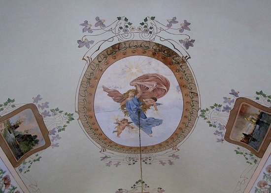 Palazzo Il Cavaliere : Ceiling in the breakfast room