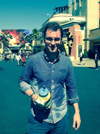 Universal Studios Hollywood: Soaked after Jurassic Park ride.