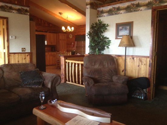 Lake Shore Cabins on Beaver Lake: Inside our Cabin ~ Perfect!