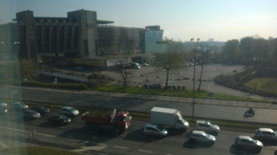 Hilton Garden Inn Hotel Krakow : View from the junior suite