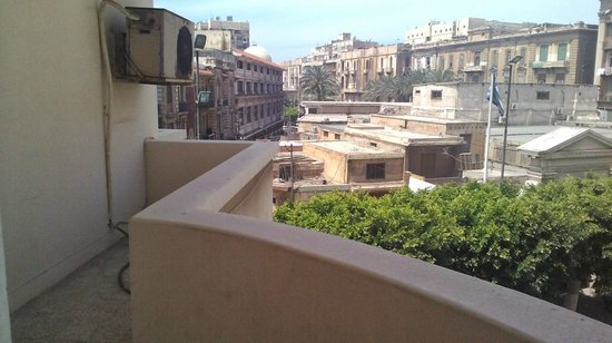 Alexander the Great Hotel: View from living area balcony