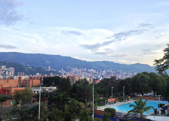 Rooftop view from the International House Medellin