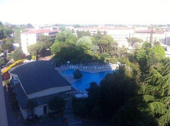 Hotel Terme Internazionale: La vista dal balcone della 609