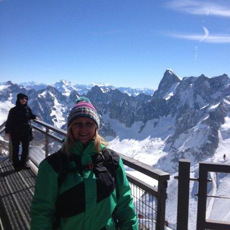 La Sapiniere: At the top of Chamonix Aiguille du midi