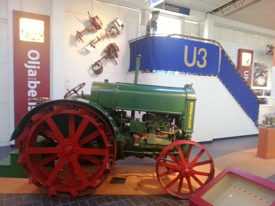 Technology & Maritime Museum: Vintage tractor and submarine entrance