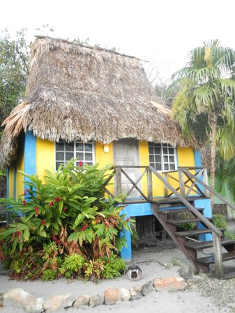 The Inn at Corozal Bay: We love the look of the cabana's.