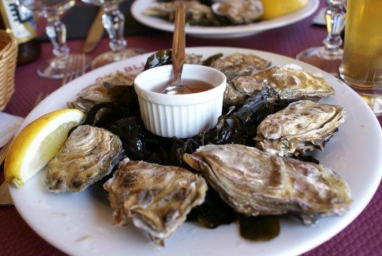 Hotel Restaurant de la Pointe du Grouin : Les huitres en entrée... un véritable délice !