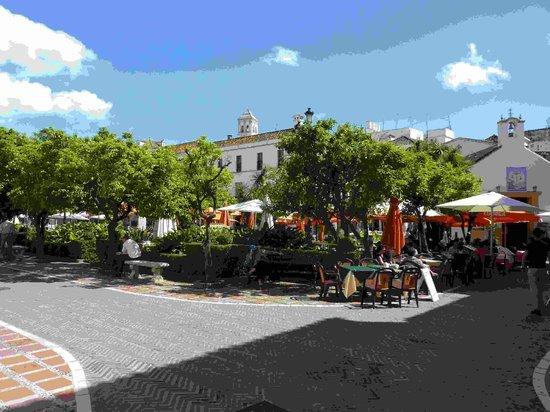Casco antiguo de Marbella: Orange square