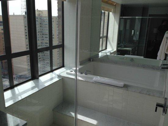 Kimpton Hotel Palomar Philadelphia: Spa tub and walk-in shower enclosure, 2102