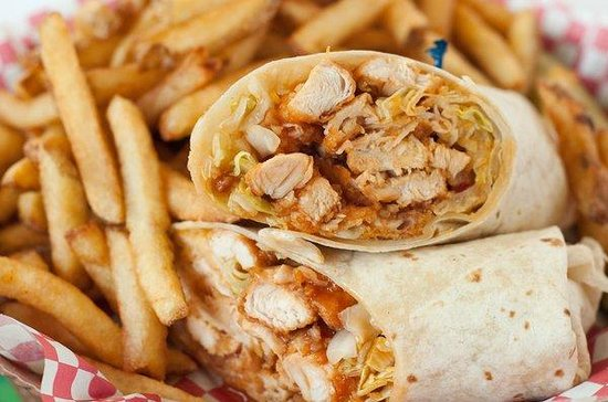 The Halfway Cafe: Pulled Chicken Wrap