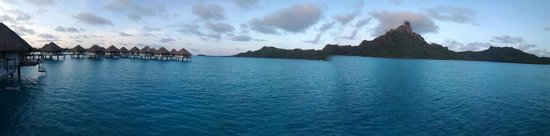 Le Meridien Bora Bora : OWB deck view
