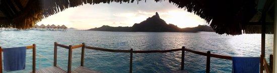 Le Meridien Bora Bora : Premium OWB view from deck
