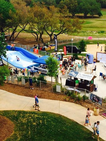 Hyatt Regency Hill Country Resort and Spa : View of FlowRider from 4th floor
