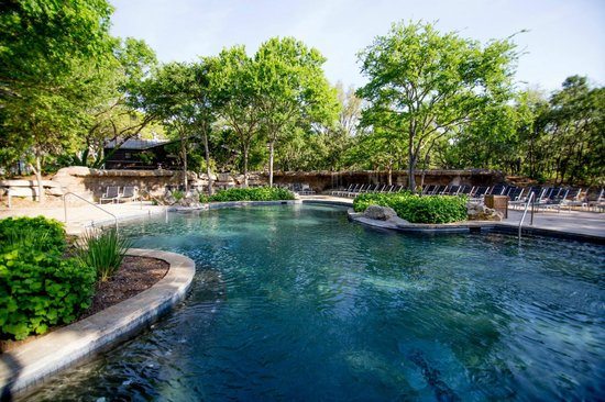 Pool area picture of hyatt regency hill country resort for Texas spas and resorts