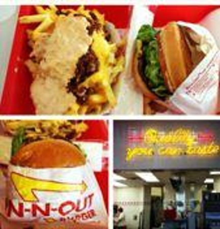 In-N-Out Burger : San Fran In n Out. Cheeseburger and Animal Style fries