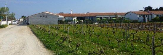 Les Vignes de la Chapelle : L'hôtel dans les vignes
