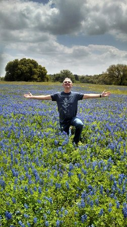 BlissWood Bed and Breakfast Ranch : View of the Bluebonnets in full bloom at the ranch
