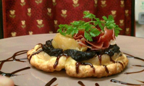 L' OUSTALOUN : Tatin de Boudin Noir aux Pommes