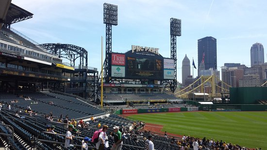 PNC Park: Left field view with downtown backdrop