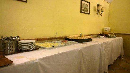 Hotel Ideal : Il buffet a colazione