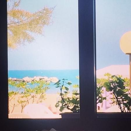 Il Gabbiano: veduta dalla sala da pranzo.