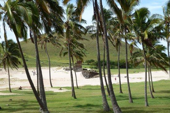 Anakena Beach: Die Moais von Anakena