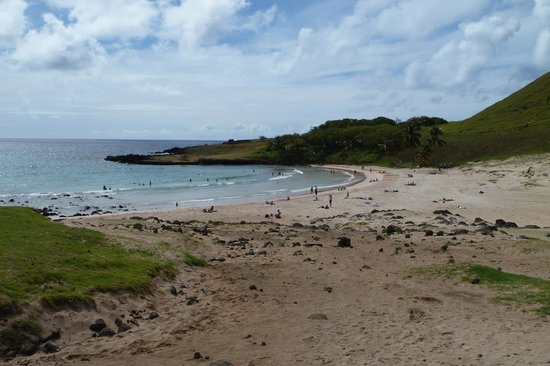 Anakena Beach: Badebucht